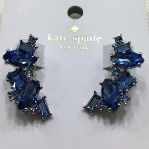 NWT Kate Spade Sapphire Cluster Crawler Earrings